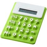 Силиконовый калькулятор «Splitz», цвет зеленый
